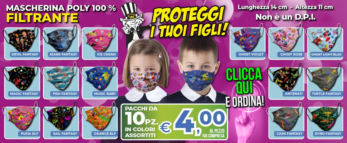 ColomboMario - SLIDE Promo Mascherina KIDS apr 2020